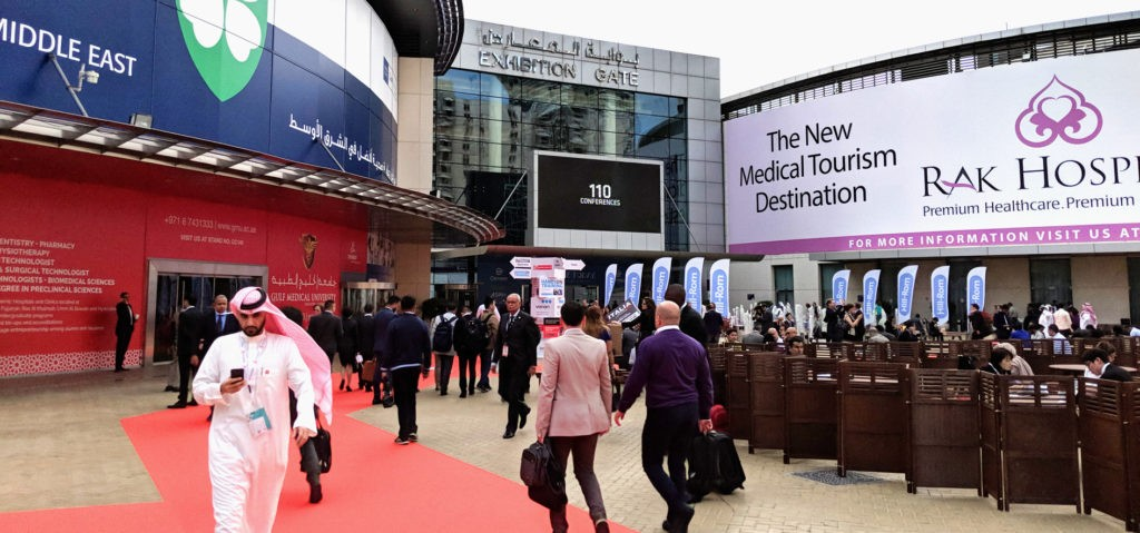 Conference entry at Arab Health 2018