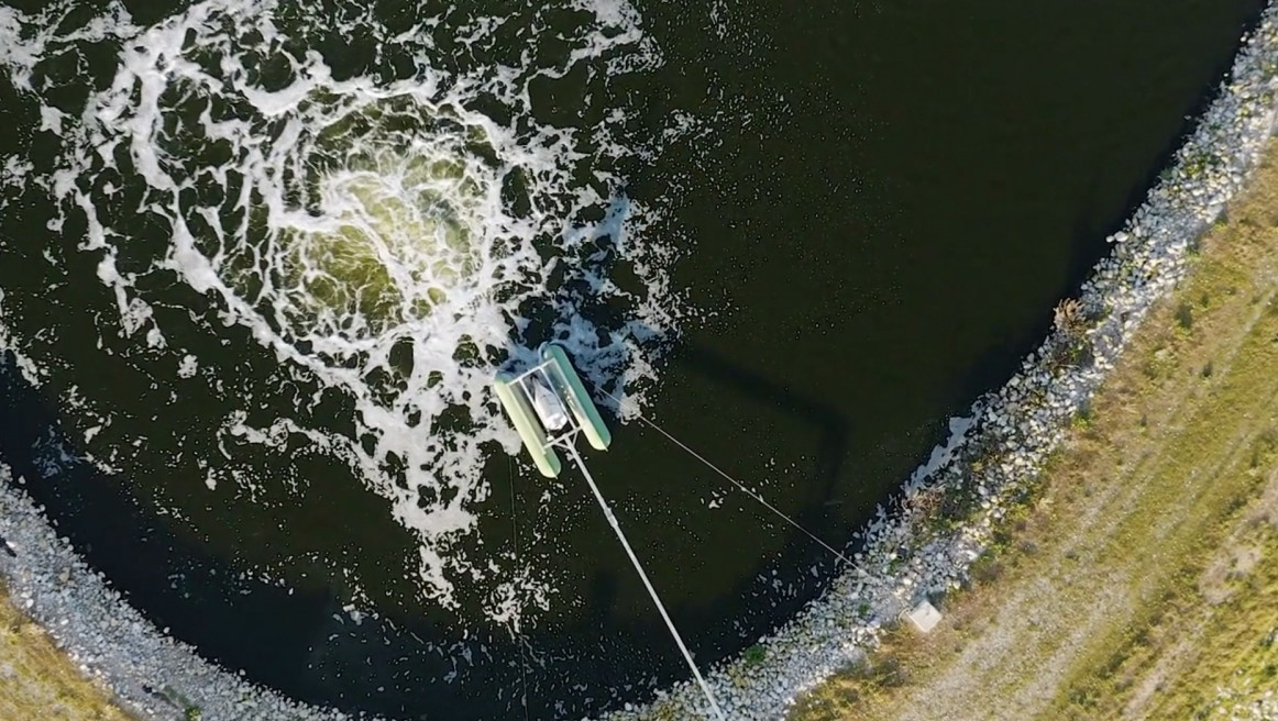 Water treatment station shoot from above